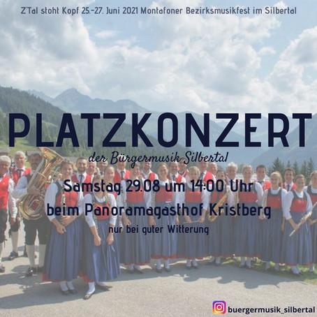 Platzkonzert am 29.08 um 14:00 Uhr beim Panoramagasthof Kristberg