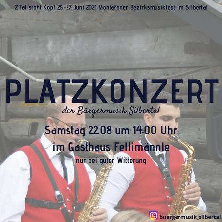 Platzkonzert am 22.08 um 14:00 Uhr im Gasthaus Fellimännle