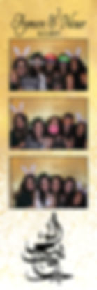 virginia photo booth strip with gold and whte
