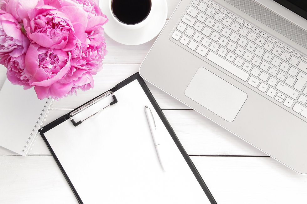 desk with pink flowers.jpg