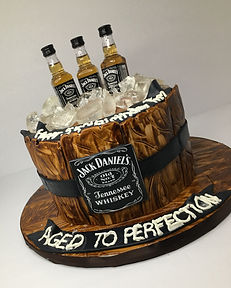 custom jack daniel's cake by jenny teeesfor bachelor party in atlanta georgia
