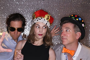 Silver Backdrop Photo Booth Rental VA MD DC