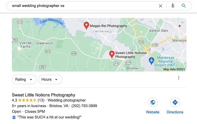 Northern Virginia Photography Website De