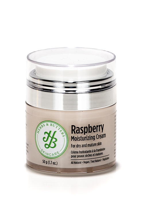 Raspberry moisturizing cream for dry and mature skin