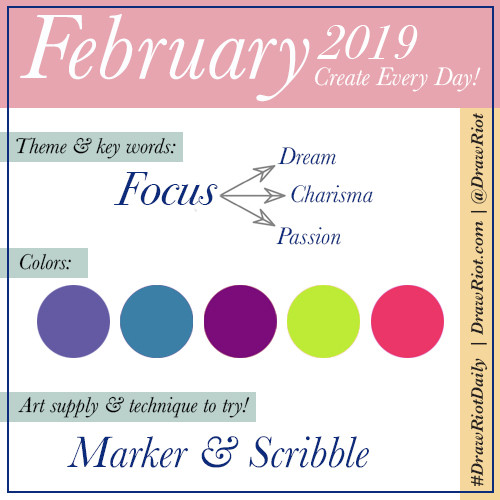 February 2019 #DrawRiotDaily