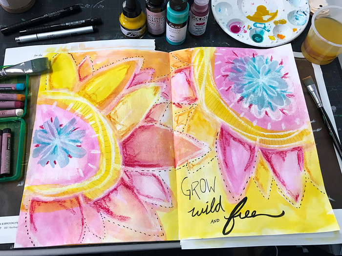 Art Sparks Inspired Art Journal