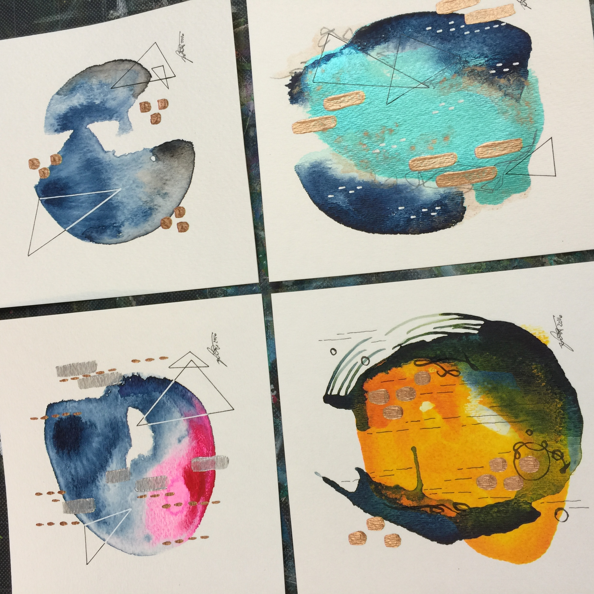 Abstract Color Study 1-4