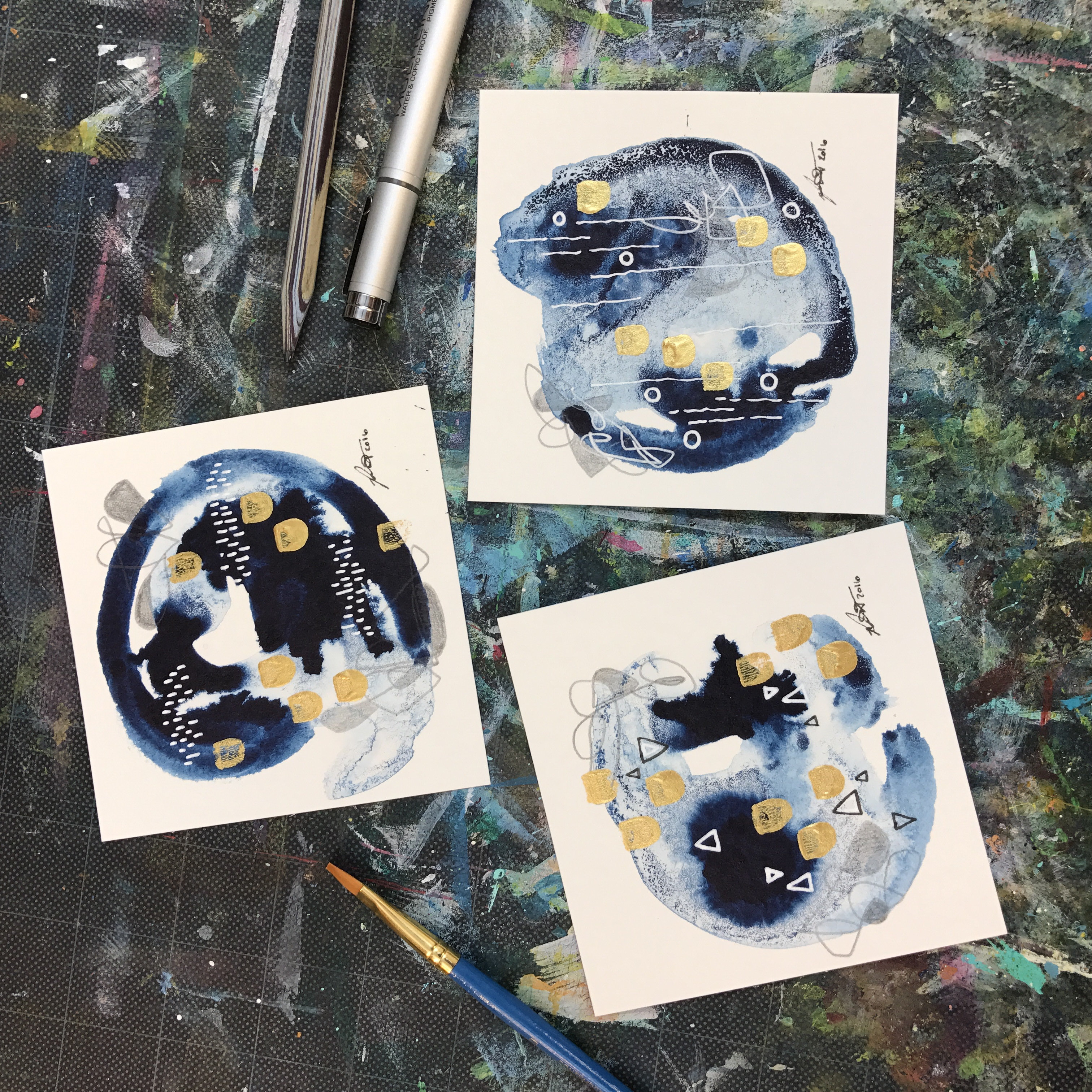 Abstract Color Study Blue & Gold