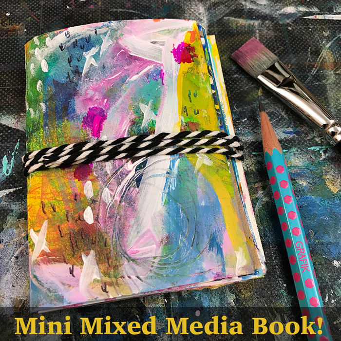 Mini Mixed Media Book and ART MARKS - 30 DAY CHALLENGE!