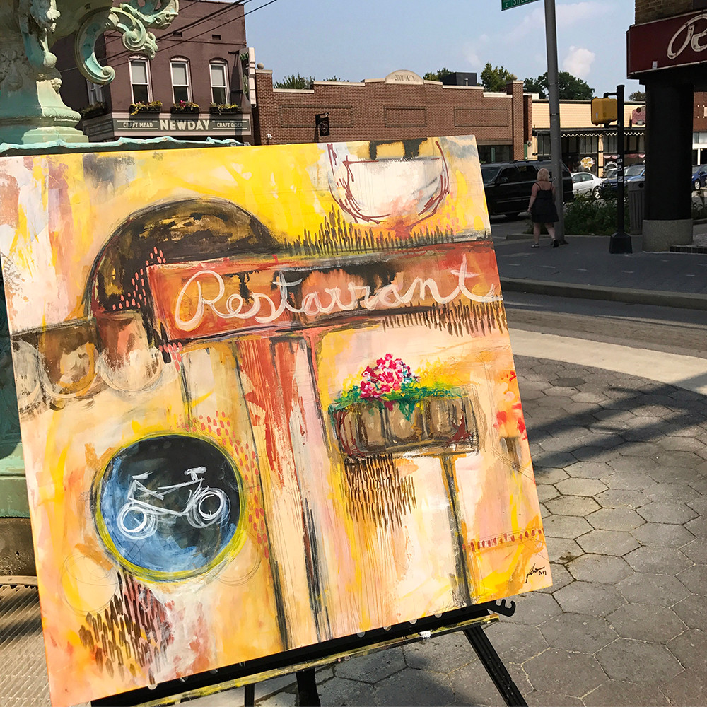 """Masterpiece in a Day """"City Vibe"""" by Tori Weyers"""