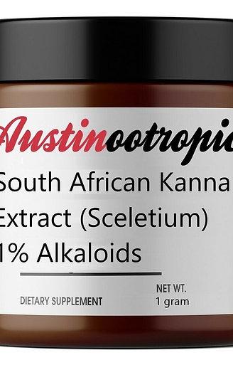 South African Kanna (Sceletium) Extract   1%+ Alkaloids – Powder, 1g