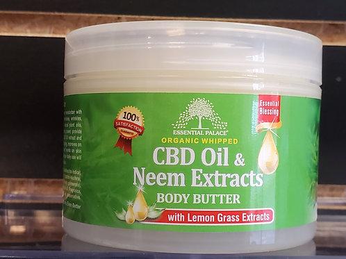 Organic Whipped CBD Oil & Neem Extract Body Butter