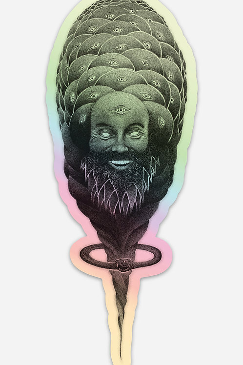 6 Holographic Ram Dass stickers