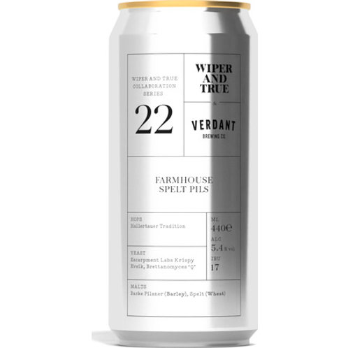 'Farmhouse Spelt Pils' - Wiper & True + Verdant - Mixed Ferm Lager - 5.4%