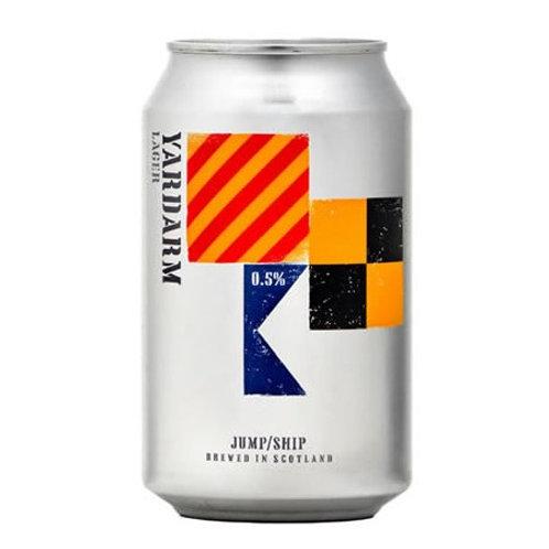 'Yardarm Lager' (AF & GF) - Jump Ship Brewing - Alcohol Free Lager - 0.5%