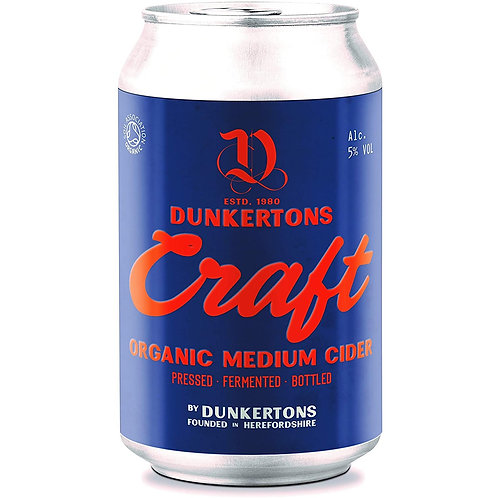 'Craft Organic Cider' - Dunkertons Cider - Medium Apple Cider - 5%