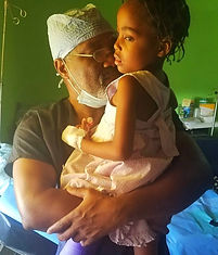 Dr E and Haitian girl