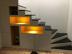 Escalier/Bibliothèque personnalisé