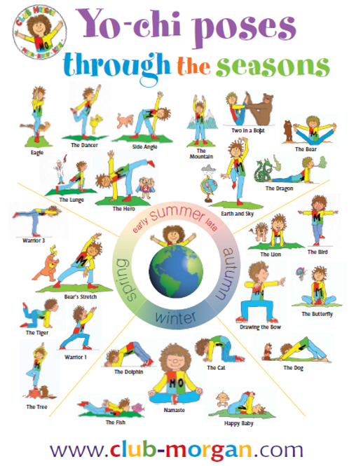 'Poses through the Seasons' Poster