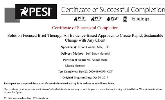 Solution Focused Brief Therapy_Certifica
