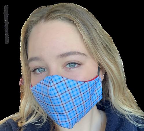 Gingham Aquamarine Australian Made Sub Mask