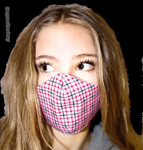 Finesse Gingham Strawberry Australian Made Sub Mask