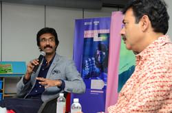 Padmashri Mohammad Ali Baig with IT Secretary Jayesh Ranjan on 'Celebrating the Glory of Global Aren