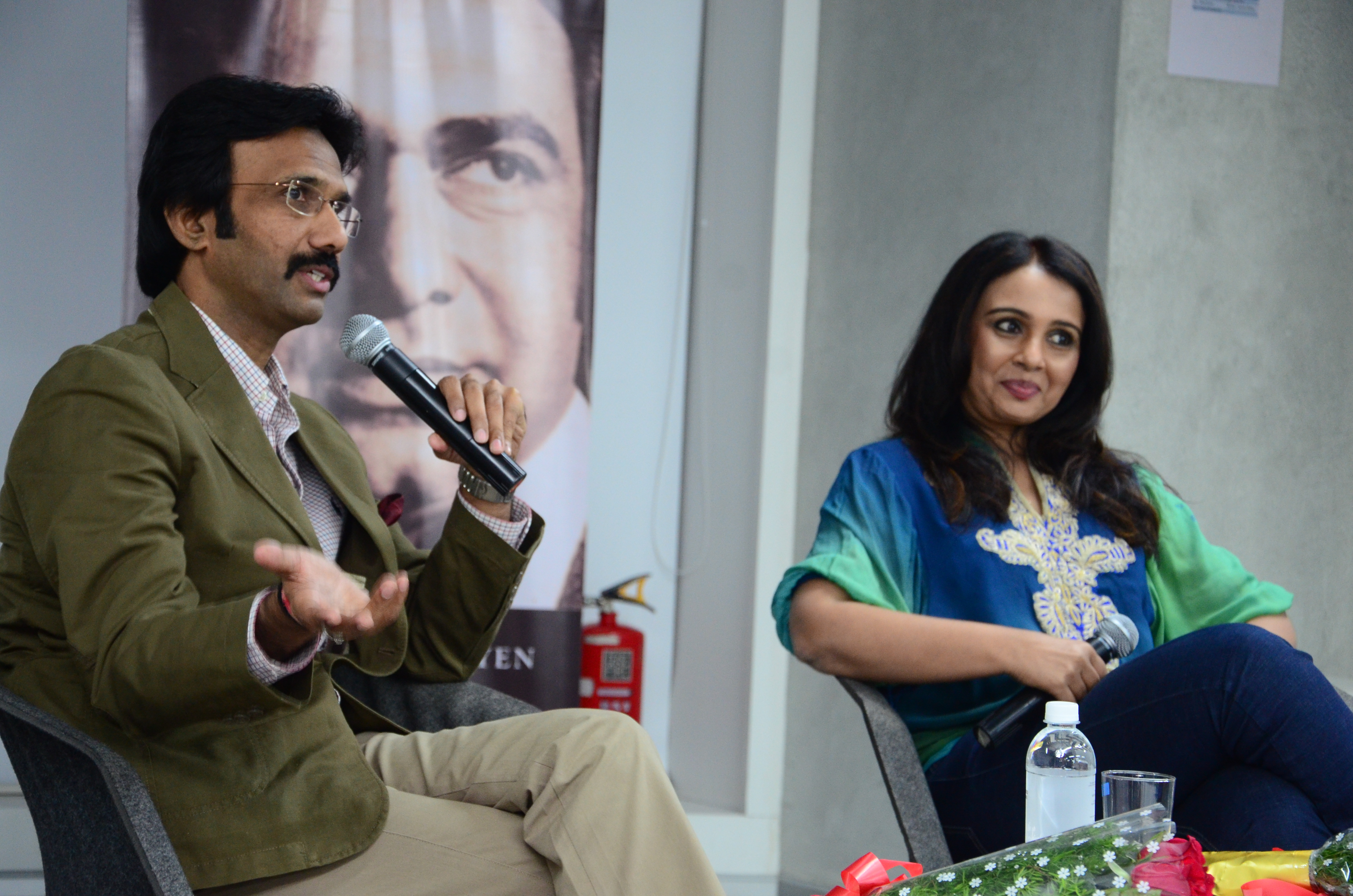 Mohammad Ali Baig and Suchitra Krishnamoorthi in an interactive session at the British Council