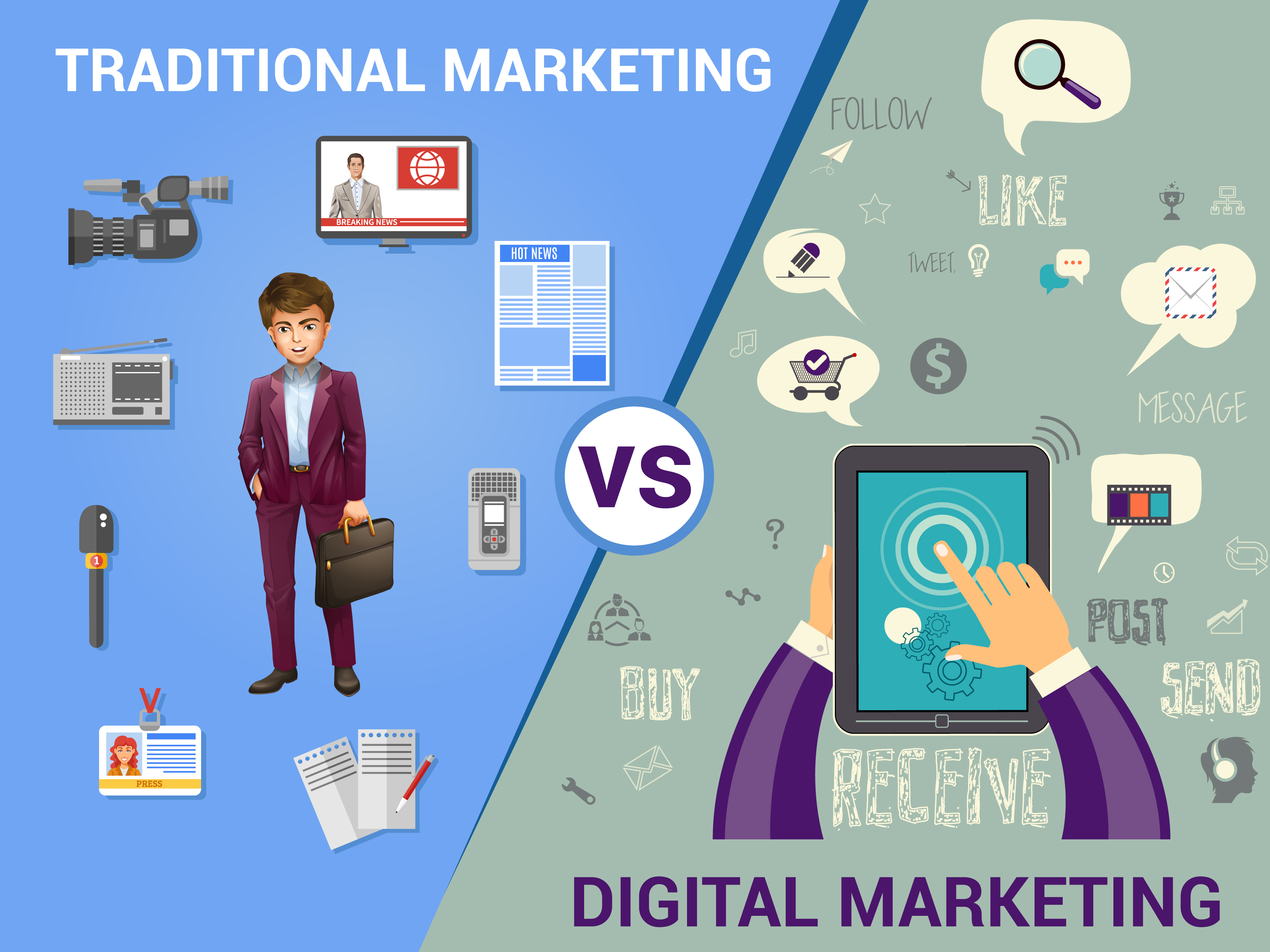 TRADITIONAL MARKETING V/S DIGITAL MARKETING.