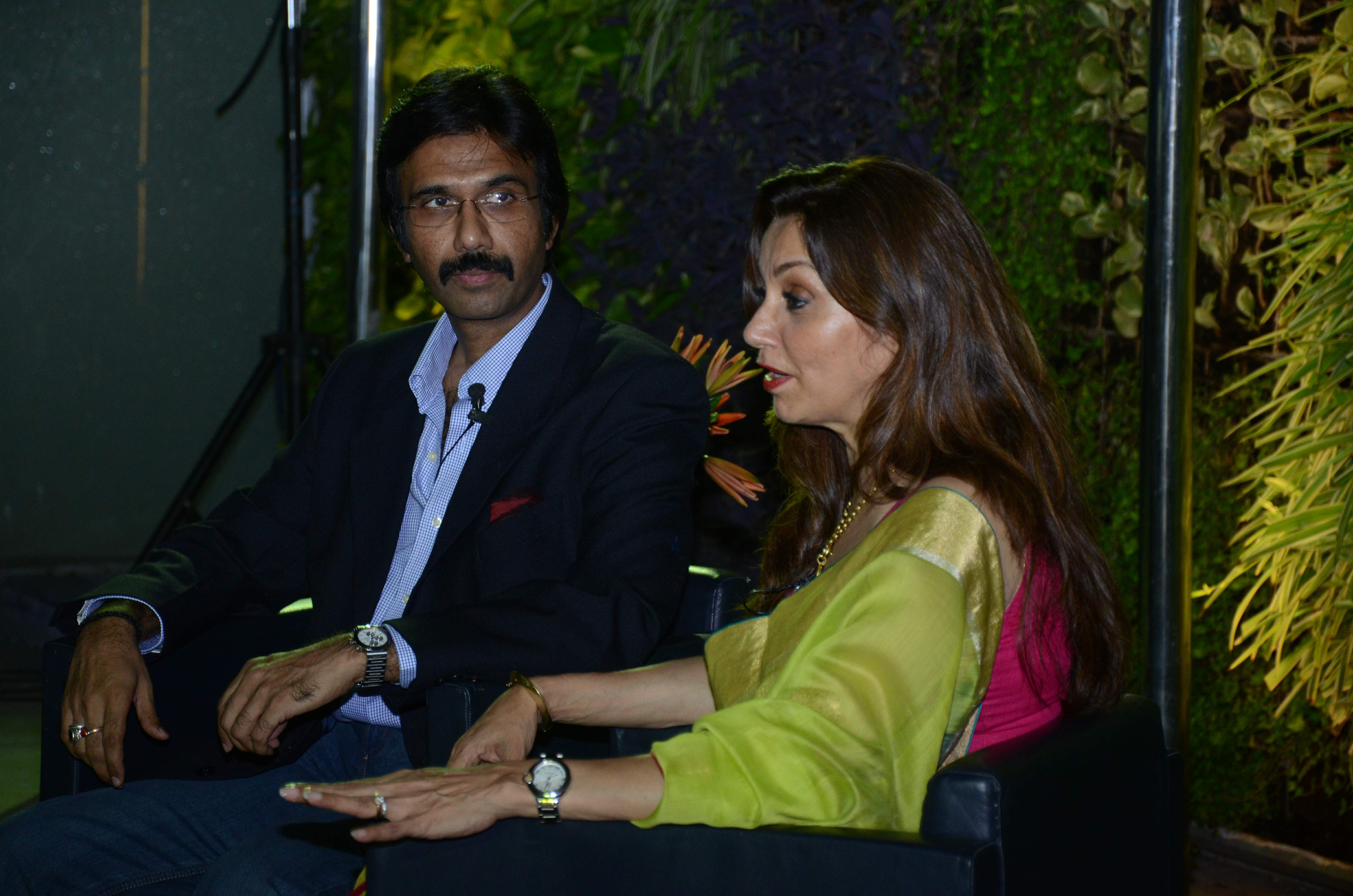 Mohammad Ali Baig and Lillete Dubey in the onstage conversation titled 'Little Nuances'