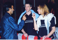 Mohammad Ali Baig with German contemporary dance choreographers Olaf Reinecke & Victoria Hauke at th