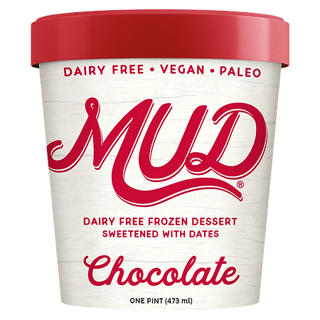 Chocolate MUD is Dairy Free Frozen Dessert Sweetened with Dates. It is Paleo and Vegan Certified, Non-GMO,Gluten Free, Soy Free, has No Added Sugars and is a delicious dairy free dessert.