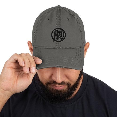 Black Circle of Death Distressed Cap