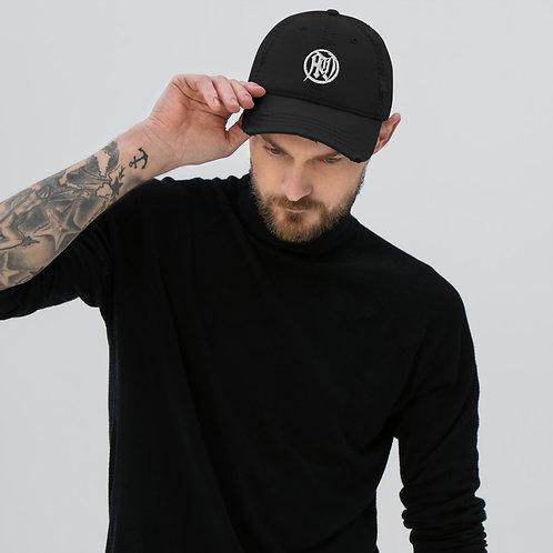 White Circle of Death Distressed Cap