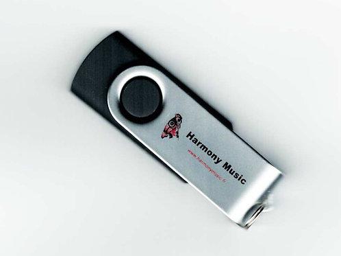 Clé USB Noire Avec deux CDs de votre choix