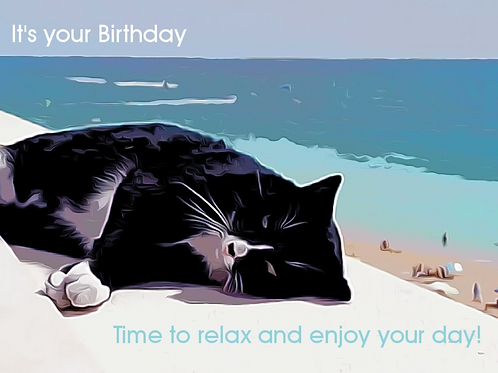 UK Post Basil Birthday Card