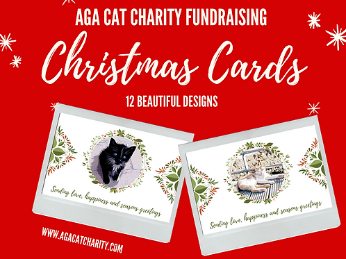 Official AGA Christmas Cards Set of 12 includes UK postage