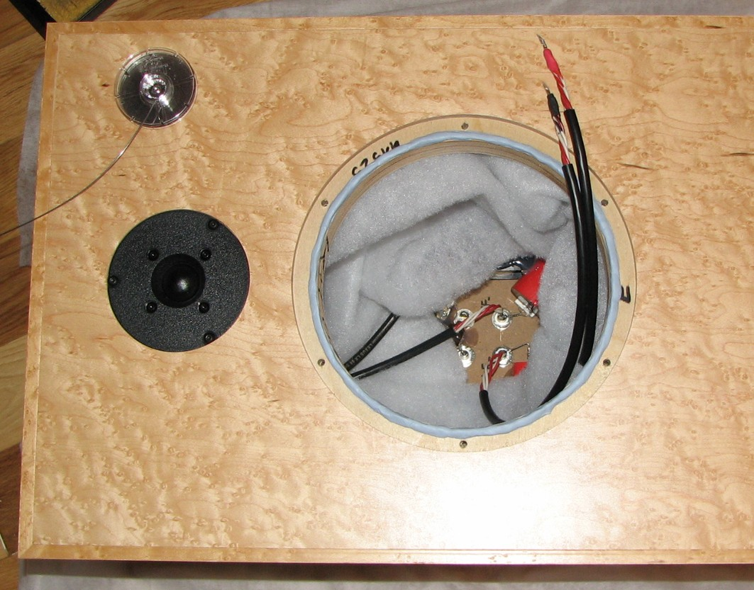 Preparing to fit the woofer