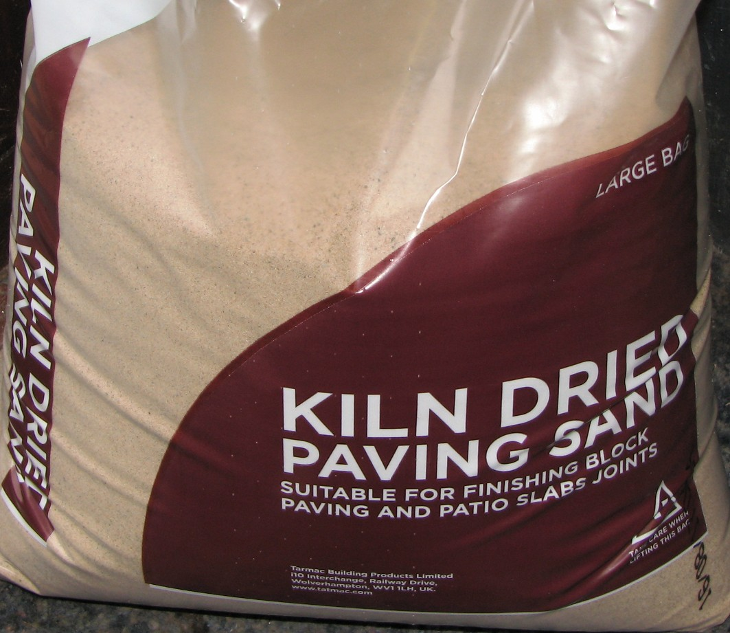 Kiln dried sand used