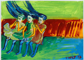 year: 2017 technique: tempera on paper size: 50 x 70 cm