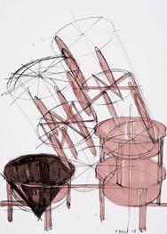 Jahr: 2008 Technik: Zeichnung auf Papier Größe: 50 x 70 cm