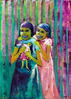Zwei schüchterne Mädchen