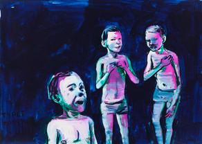 year: 2014 technique: tempera on paper size: 50 x 70 cm