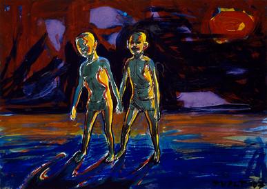 year: 2007 technique: tempera on paper size: 50 x 70 cm
