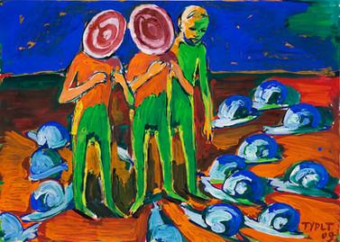 year: 2009 technique: tempera on paper size: 70 x 50 cm