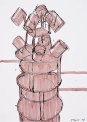 rok: 2008 technika: kresba na papíře velikost: 50 x 70 cm