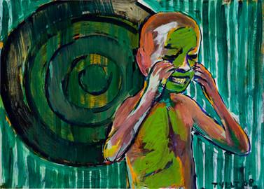 Jahr: 2008 Technik: Tempera auf Papier Größe: 70 x 50