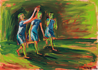 year: 2013 technique: tempera on paper size: 50 x 70 cm