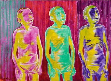 Strahlendes Trio