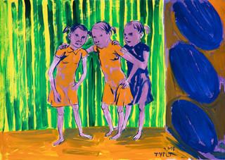 year: 2016 technique: tempera on paper size: 50 x 70 cm